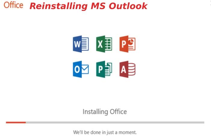 reinstalling ms outlook